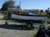 Hull complete ready for launch (mast and boom not yet fitted)