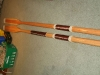 Completed sculling and rowing oars