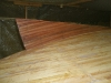 Sapele planks laminated insitu to form skeg.