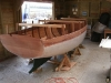 Hull turned upright, ready for internal fit out.