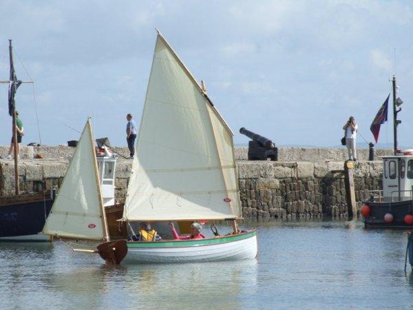Tammie Norrie in Lyme Bay harbour