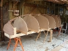 Moulds, transom, apron and hog set up