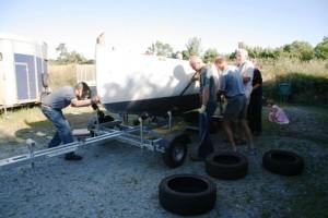 Lift onto trailer - July 2014