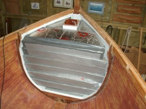 Nov 2014 - Bow compartment filled with foam buoyancy
