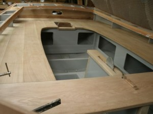 April 2015 - Seats and centre plate capping complete