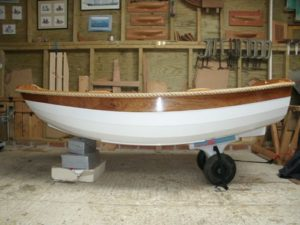 Profile of completed boat