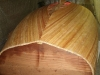 Planking ready for closure using wider plank
