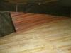 Sapele planks laminated insitu to form skeg.