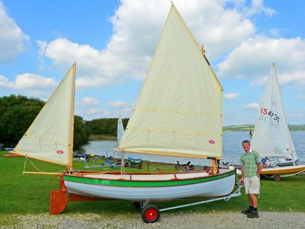 Tammie Norrie with boat builder John Harris of Tavy Wooden Boats