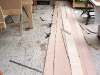 Transfer shape of garboard to planking stock
